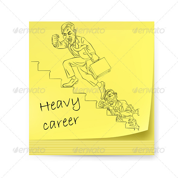 Yellow Sticker with Businessman - Backgrounds Business