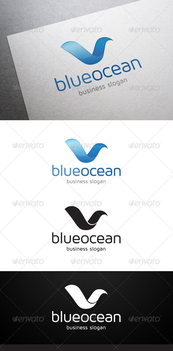 Blue Ocean Logo - Nature Logo Templates