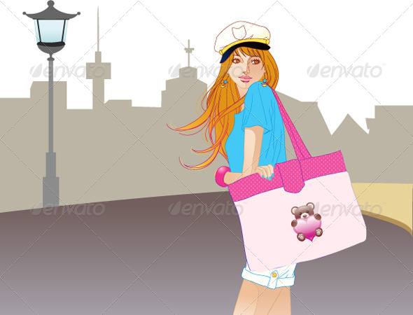 City Fashion Girl - People Characters