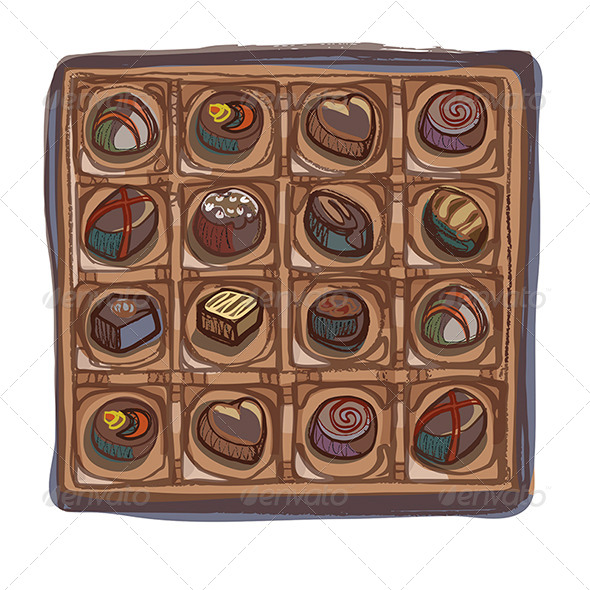 Chocolate Selection Box - Food Objects