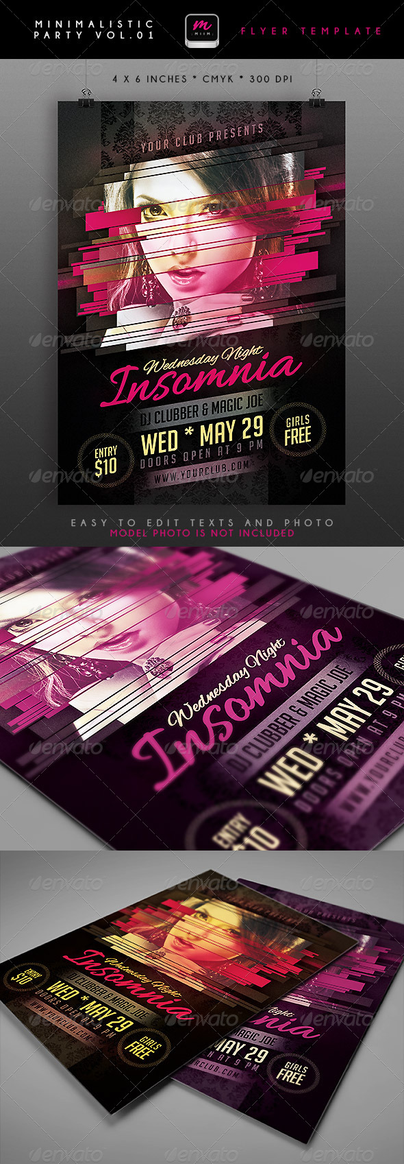 Minimalistic Party Flyer 1 - Clubs & Parties Events