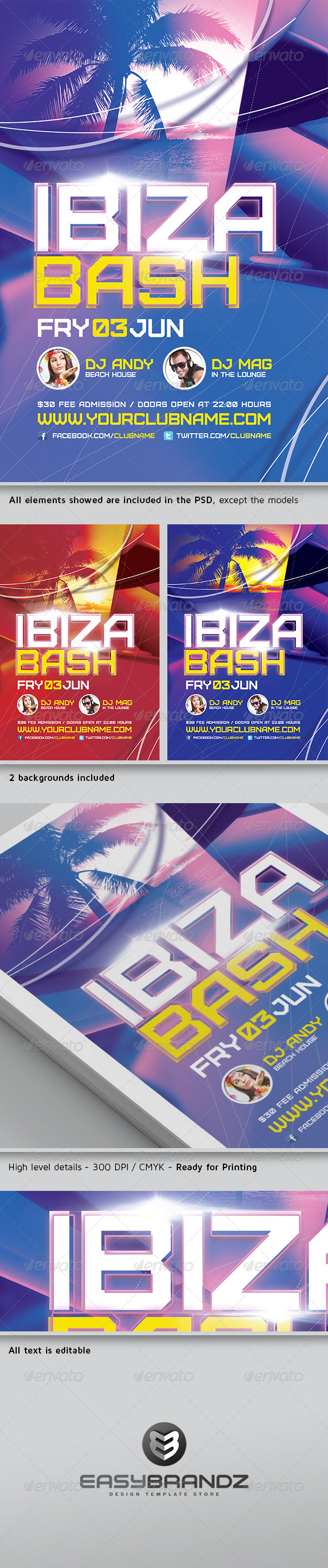 Ibiza Bash Flyer Template - Events Flyers