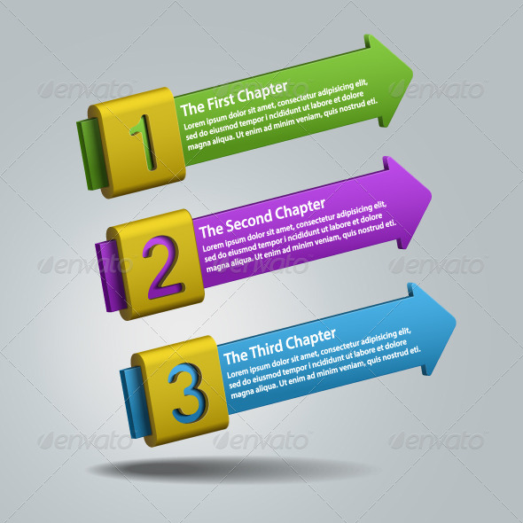 Numbered Banners - Abstract Business Background - Backgrounds Business