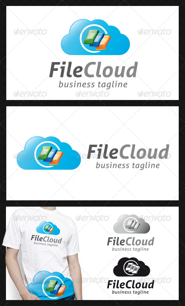 File Cloud Logo Template - Objects Logo Templates