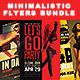 Minimalistic Party Flyers Bundle - GraphicRiver Item for Sale