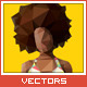 Triangled Afro Girl - GraphicRiver Item for Sale