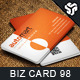 Business Card Design 98 - GraphicRiver Item for Sale