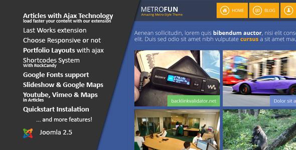 Metrofun :: Metro Style Joomla Template - Portfolio Creative