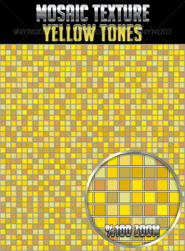 Mosaic Texture Yellow Tones - Textures