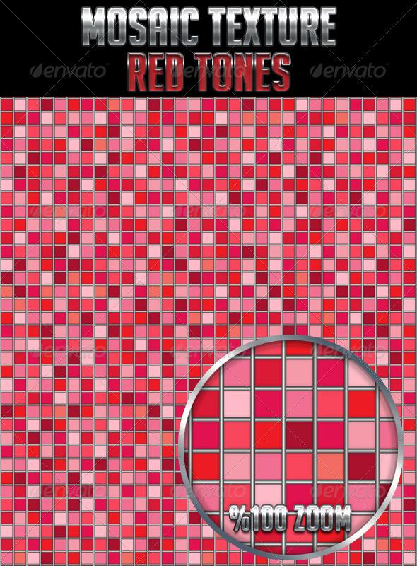 Mosaic Texture Red Tones - Textures