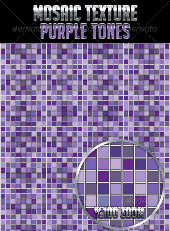 Mosaic Texture Purple Tones - Textures