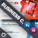 Cloud Systems Business Card Template - GraphicRiver Item for Sale