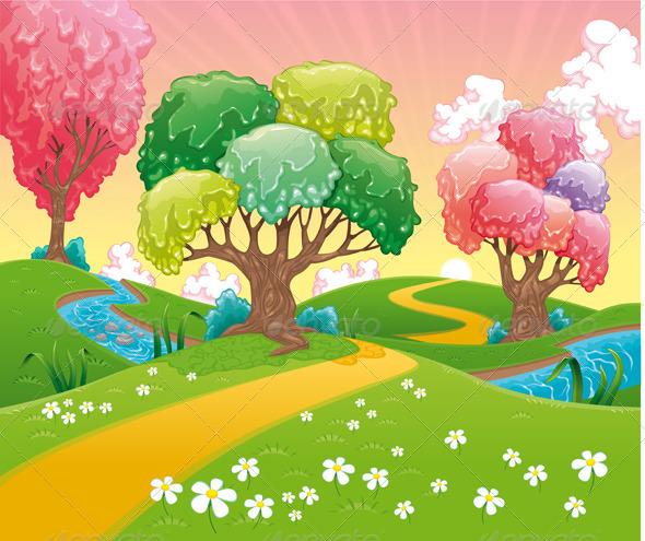 Fantasy Landscape.  - Landscapes Nature