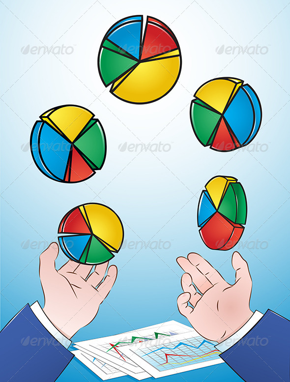 Juggling Pie Charts - Concepts Business
