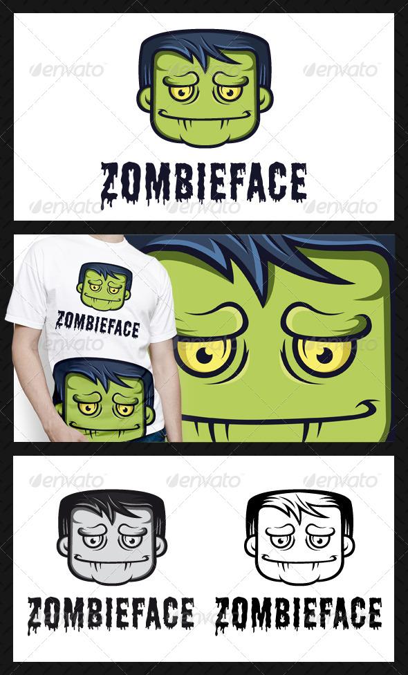 Zombie Logo Template - Humans Logo Templates