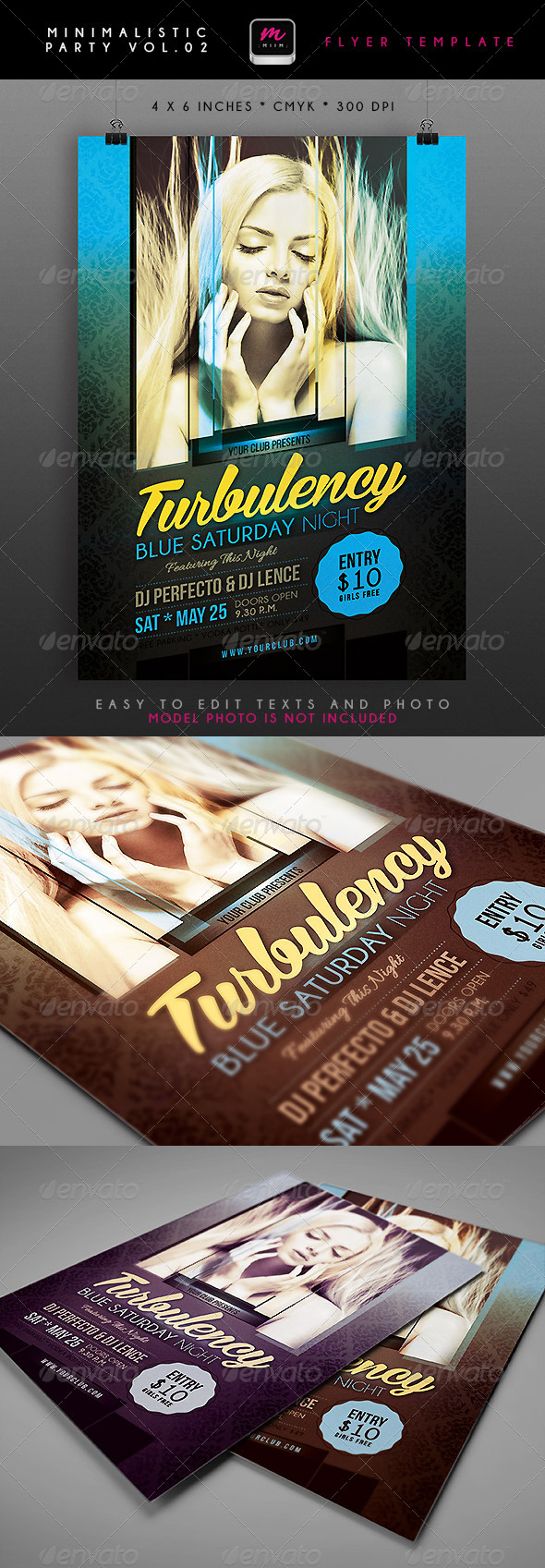 Minimalistic Party Flyer 2 - Clubs & Parties Events