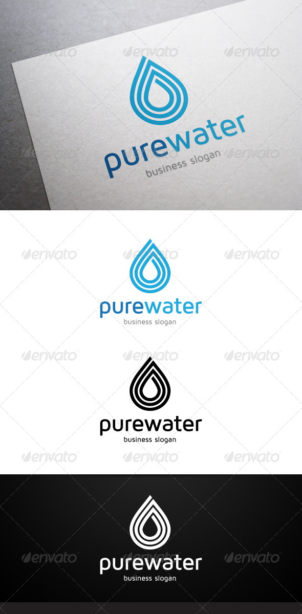 Pure Water Logo - Nature Logo Templates