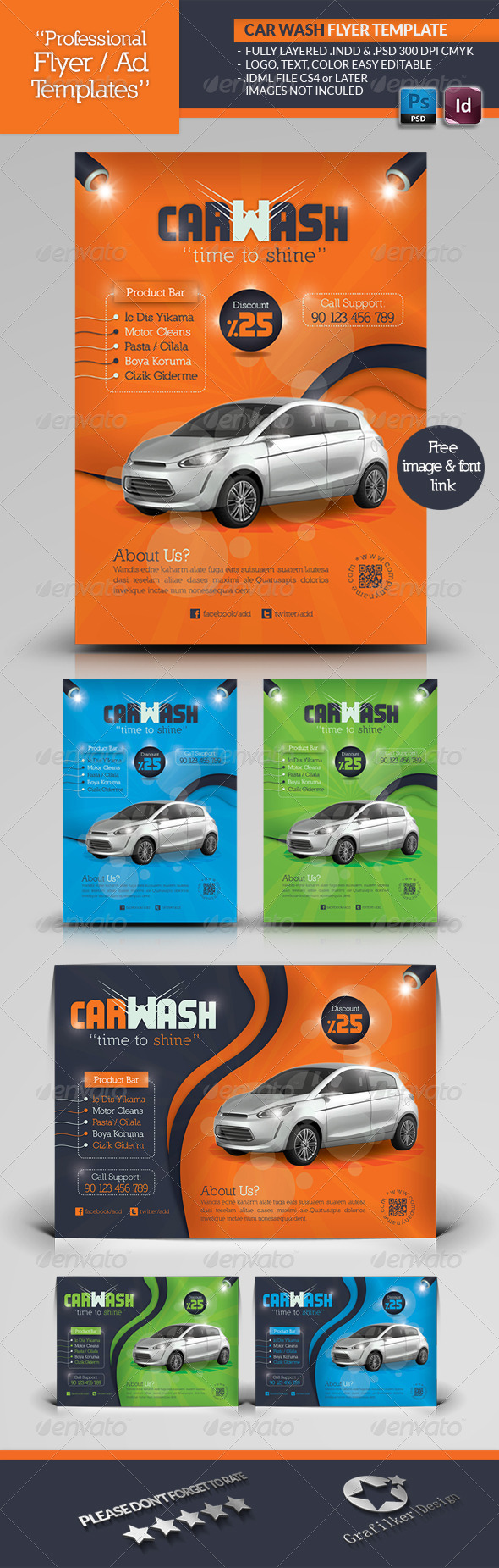 Car Wash Flyer Template - Corporate Flyers