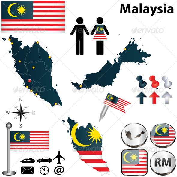 Map of Malaysia - Travel Conceptual