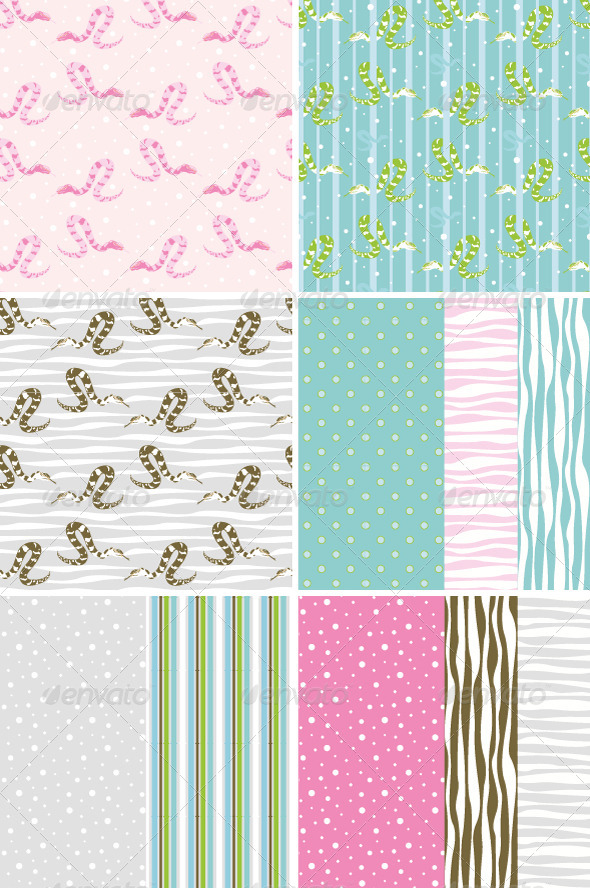 Seamless Patterns with Snake  - Patterns Decorative
