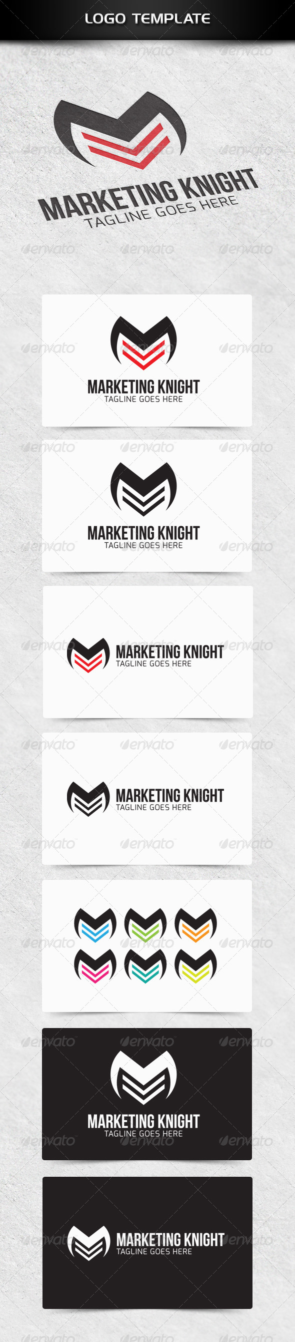 Marketing Knight - Letters Logo Templates