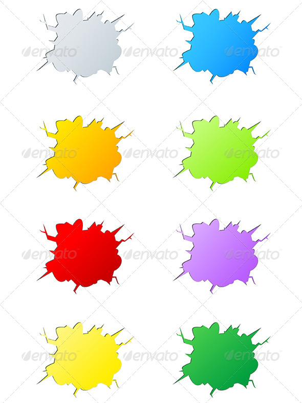 Set of  Vector Cracks - Decorative Symbols Decorative