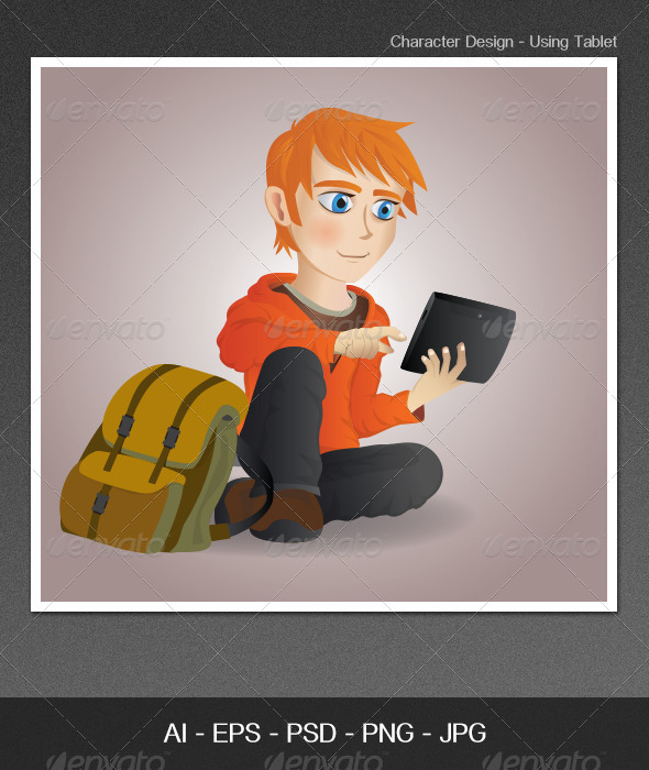 Character Design - Using Tablet - People Characters