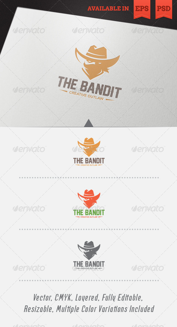 The Bandit Logo Template - Humans Logo Templates