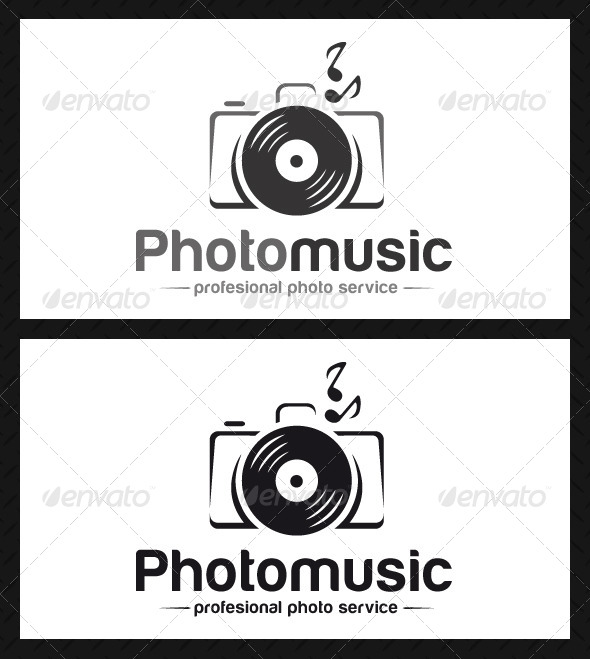 Photo Music Logo Template - Objects Logo Templates