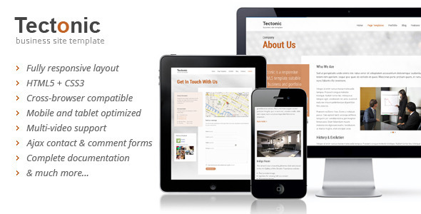 Tectonic – Responsive HTML5 Template