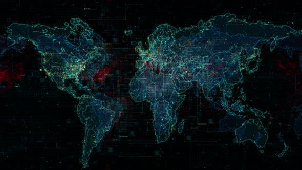 Digital world map background by rwfootage videohive - Digital world hd ...