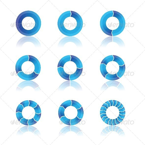 Blue Diagrams - Web Elements Vectors