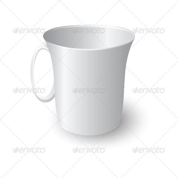 White Coffee Mug - Miscellaneous Vectors