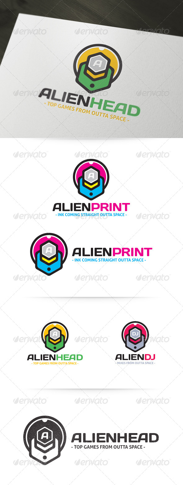 Alien Head Logo - Abstract Logo Templates