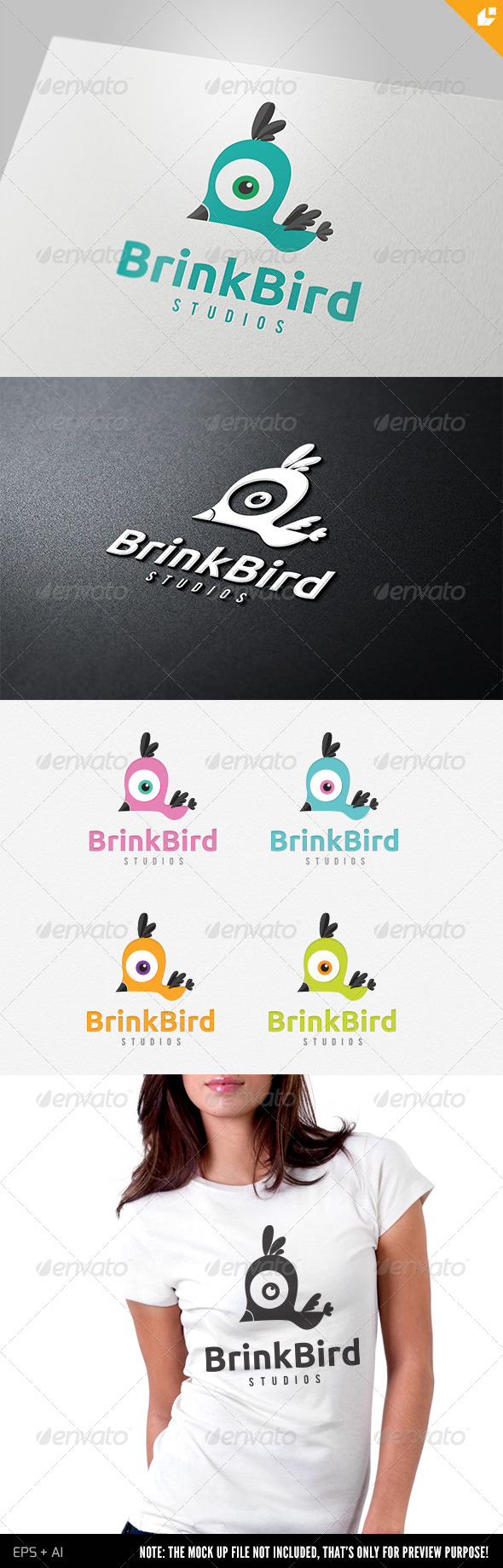 Brink Bird Logo - Animals Logo Templates