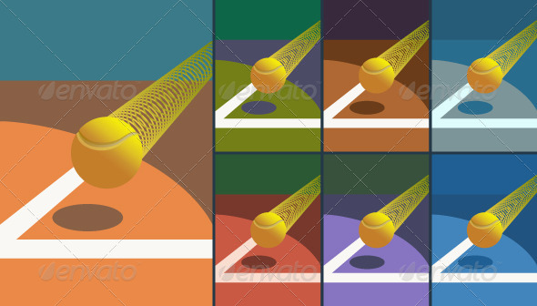 Victory Tennis Ball - Sports/Activity Conceptual