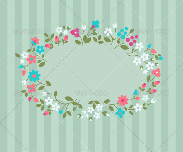 Floral Greeting Card - Flowers & Plants Nature