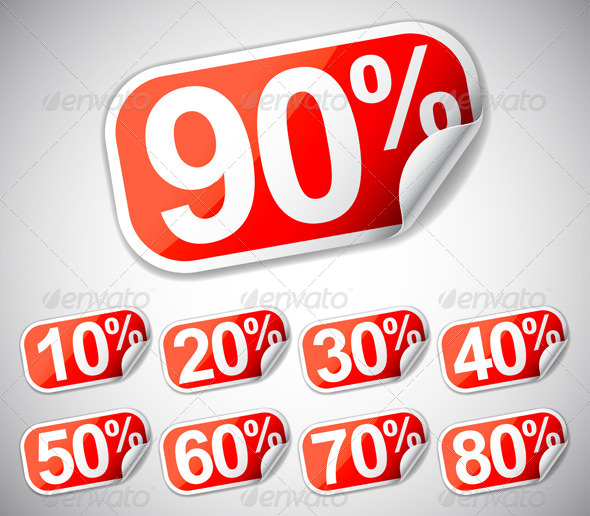 Discount Labels - Commercial / Shopping Conceptual