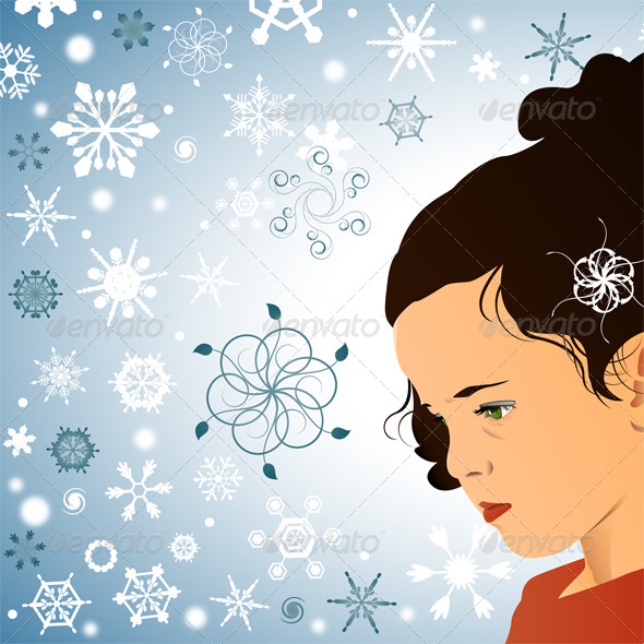 Little Princess and Snowflakes - People Characters