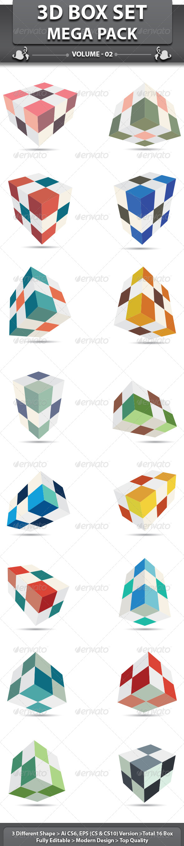 3D Box Set - Miscellaneous Vectors
