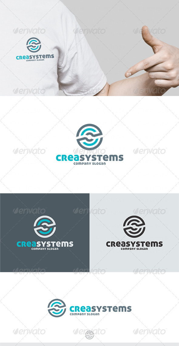 Crea Systems Logo - Letters Logo Templates