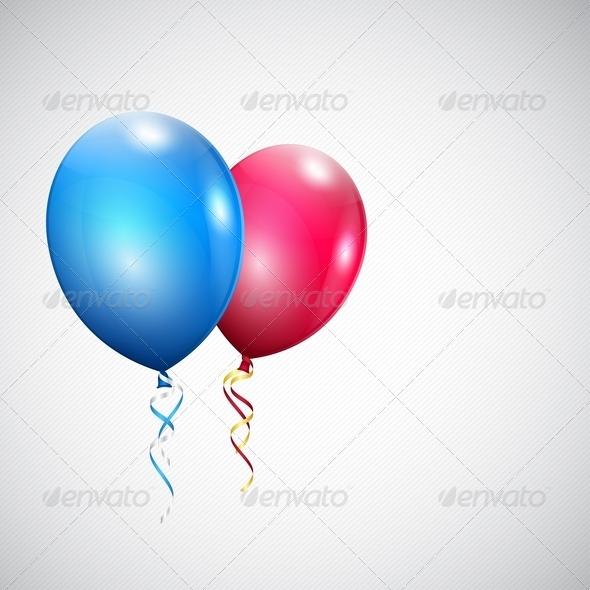 Two Balloons - Birthdays Seasons/Holidays