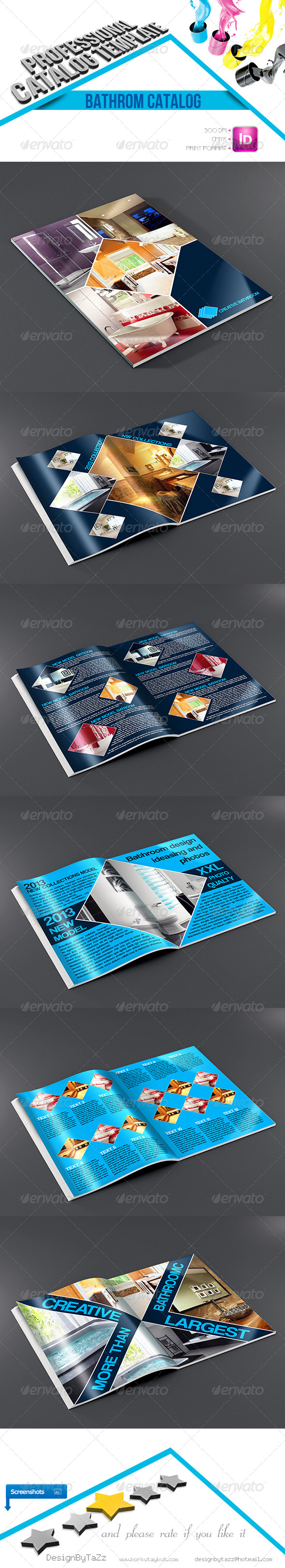 Creative Bathroom Catalog Template - Catalogs Brochures