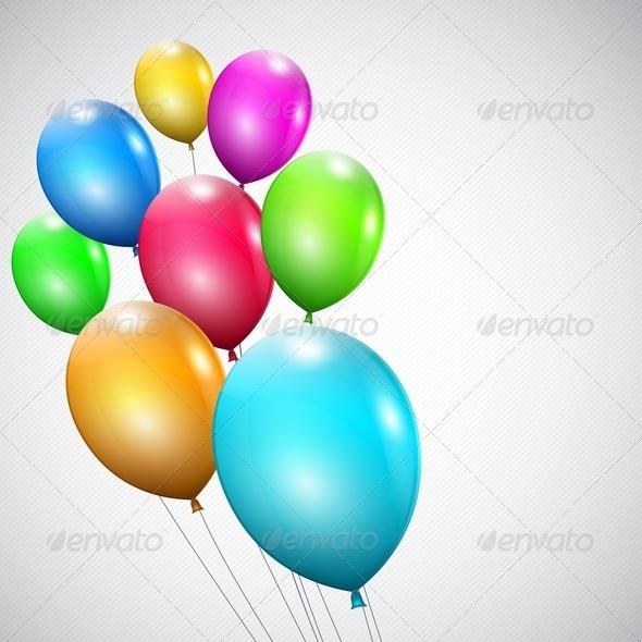 Multicolored Balloons - Birthdays Seasons/Holidays