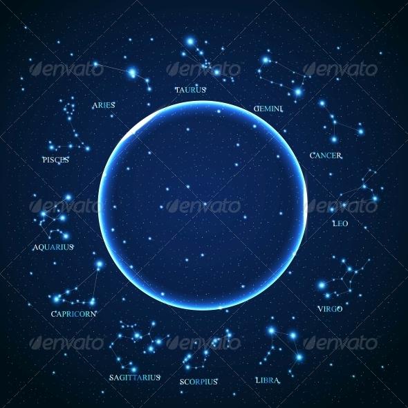 Zodiac Sign Vector - Decorative Symbols Decorative