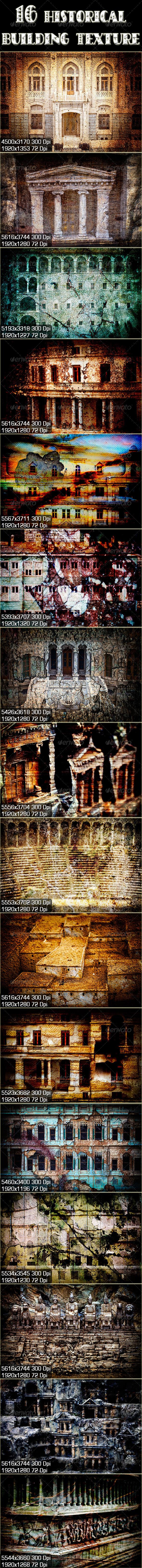 16 Historical Buildings - Miscellaneous Backgrounds