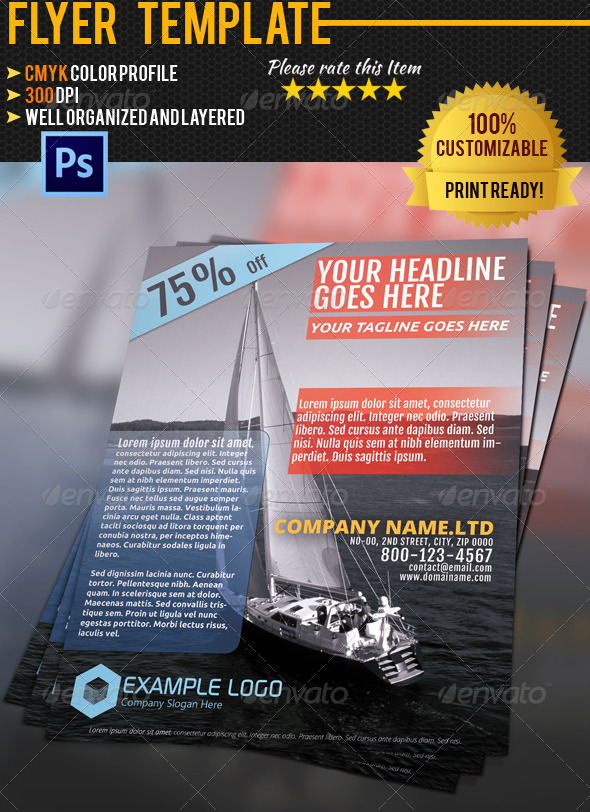 Travel Flyer Template 01 - Corporate Flyers