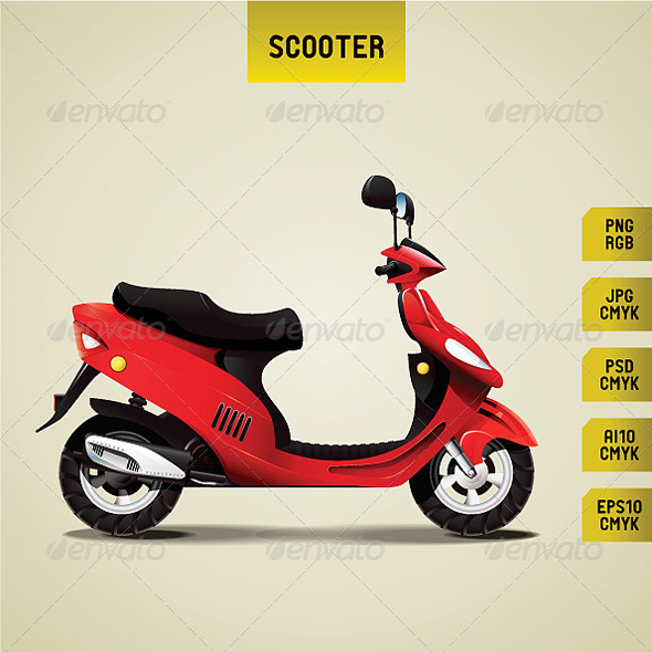 Scooter - Man-made Objects Objects