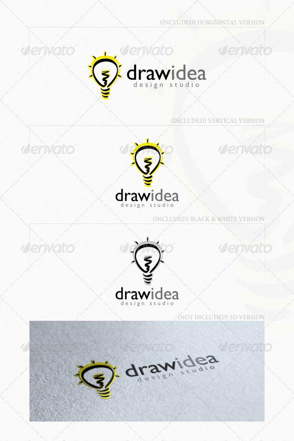 Draw Idea Logo - Objects Logo Templates