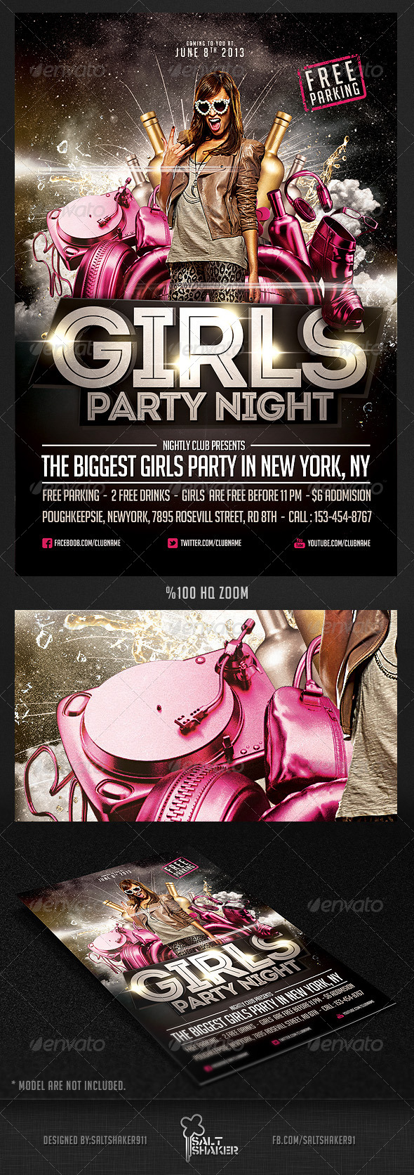 Girls Party Night Flyer Template By Saltshaker911 Graphicriver